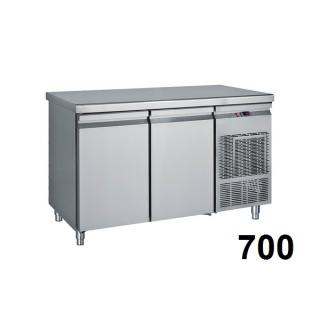Refrigerated counter 700mm deep
