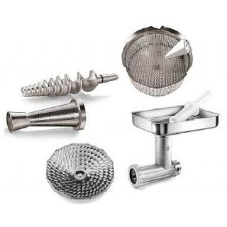 Accessory and attachment for food strainer