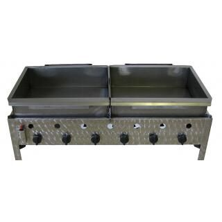 GÁZGRILL BGT-6 LRMO desktop 6 burner scone and donut frier with stainless pan and drain