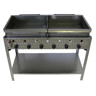 GÁZGRILL BGS-6 LRM standing 6 burner scone and donut fryer with stainless pan