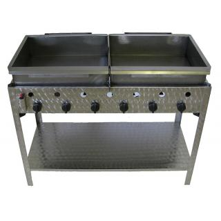 GÁZGRILL BGS-6 LRMO standing 6 burner scone and donut fryer with stainless pan, drain