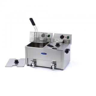 MAXIMA 8+8 liters double electric fryer with drain tap