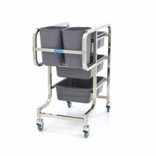 MAXIMA stainless steel trolley