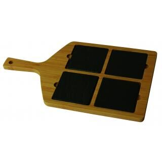 HORECATECH wood cutting board with slate