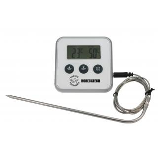 HORECATECH digital oven thermometer with timer