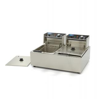 MAXIMA 6+6 liters double electric fryer