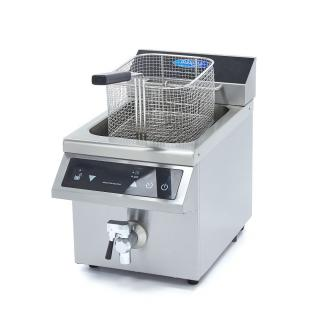 MAXIMA 8 liters induction fryer with drain tap