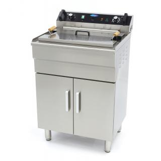 MAXIMA 35 liters fryer with drain tap and cupboard