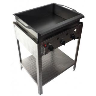 GÁZGRILL BGS-3 LO standing 3 burner scone and donut frier with drain