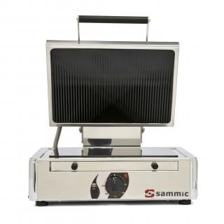 SAMMIC GV-6LA contact grill with glass-ceramic surface - smooth/grooved