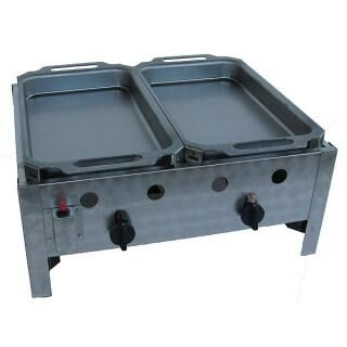 GÁZGRILL BGT-2 P2 table top roasting pan with 2 steel pans