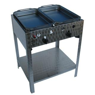 GÁZGRILL BGS-2 P2 standing roasting pan with two steel pan