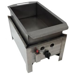 GÁZGRILL BGT-1 LRMO desktop scone frier with stainless pan with drain