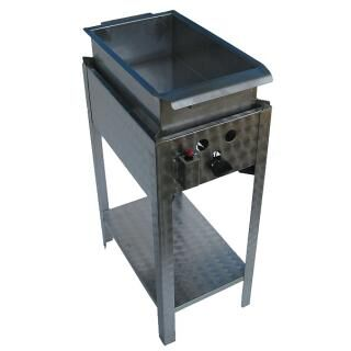 GÁZGRILL BGS-1 LRMO standing scone and donut fryer with stainless pan and drain