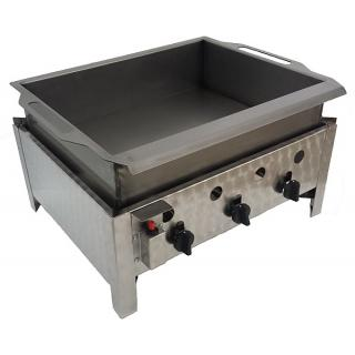 GÁZGRILL BGT-3 LRMO desktop 3 burner scone frier with stainless pan, drain