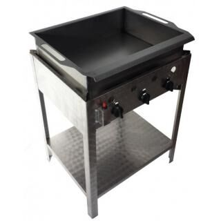 GÁZGRILL BGS-3 LRMO standing 3 burner scone and donut frier with stainless pan and drain