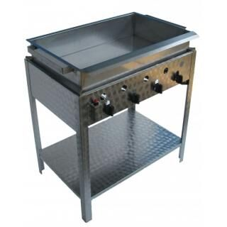GÁZGRILL BGS-4 LRMO standing 4 burner scone and donut fryer with stainless pan and drain